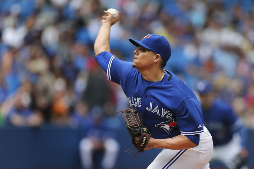 SP-JAYDAY9MAY Toronto, Canada - May 9  -  Jays closer, Roberto Osuna (54) throws in the 9th. The Toronto Blue Jays beat the Boston Red Sox 7-1 at the Rogers Centre in Toronto. May 9, 2015 Richard Lautens/Toronto Star